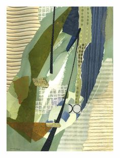Susan Adame collage: These collages take the viewer on a journey into a dimensional world of color, textures and shapes. Each piece has an underlying feeling of movement or flowing which helps to unify the elements in the work.