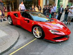 Ferrari Stradale was at HR Owen in London – cars & life… – Sport Cars Luxury Sports Cars, Exotic Sports Cars, Best Luxury Cars, Exotic Cars, Cool Sports Cars, Ferrari F80, New Ferrari, Sportster 1200, Harley Davidson Sportster