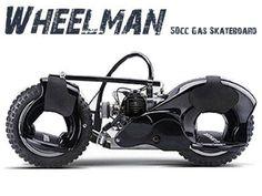WHEELMAN 50CC SKATEBOARD BLACK $ 499.00 USD. More info visit at:http://rcracingstore.com/