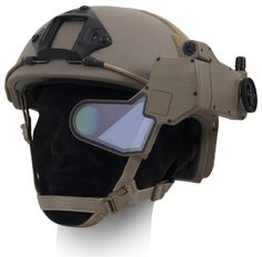 This is the helmet of the future. Think of it as Google Glass, but capable of surviving nearby explosions, terrifyingly extreme conditions and being shot at. Giving the wearer a complete tactical HUD in one eye they can see through the eyes of anything that's directly linked to their suit: whether it's a surveillance satellite or a drone they've just launched.