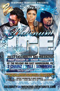 Platinum Ice 2013 Celebrity Ski Weekend @ Holiday Inn E. Harrisburg Friday February 22-Sunday February 24, 2013