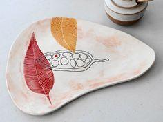 Ceramic Platter Appetizer Tray Stoneware by TeahousePottery