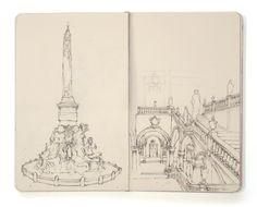 sketchbook: study of baroque art