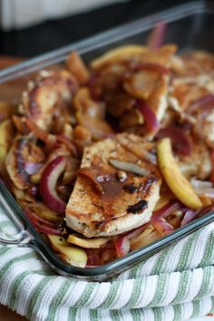 Hard Cider Pork Chops with Apples and Onions | Aggie's Kitchen: