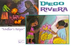 Diego Rivera art lesson Mother's Helper project - Deep Space Sparkle