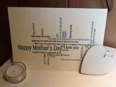 New to weheartcards on Etsy: Personalised Custom Mothers Day Greetings card FREE WORLDWIDE SHIPPING (9.99 GBP)