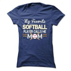 My favorite SOFTBALL player calls me mom - #cute hoodies #men hoodies. BUY NOW…