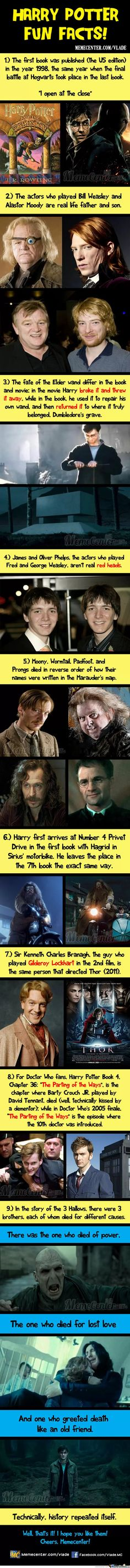 Funny pictures about harry potter facts. oh, and cool pics about harry potter facts. also, harry potter facts. Harry Potter Gif, Immer Harry Potter, Harry Potter Fun Facts, Mundo Harry Potter, Harry Potter Pictures, Potter Facts, Harry Potter Universal, Harry Potter Characters, Harry Potter World