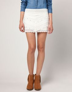 casual lace skirt