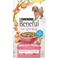 Bag - Purina Beneful Originals With Real Beef Adult Dry Dog Food. Antioxidant-Rich Nutrition To Help Support A Healthy Immune System. Real Farm-Raised Beef Is The Ingredient. High Protein Dog Food, Dog Storage, Premium Dog Food, Dog Food Reviews, Wet Dog Food, Pet Food, Antioxidant Vitamins, Dog Supplies, The Originals