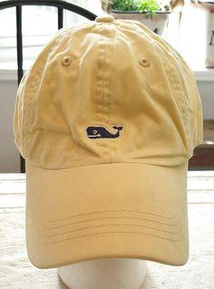 a6b24e31f1077 Vineyard Vines Whale Yellow Baseball Cap Hat Martha s beach hiking camping  golf  VineyardVines  BaseballCap