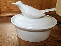 APILCO France Oval Pate Terrine Casserole Dish Figural Bird Lid White Porcelain in Pottery & Glass, Pottery & China, Art Pottery, European Pottery, French | eBay