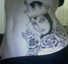 evil queen from Snow White tattoo