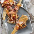 Try the Fried Pecorino with Stone-Fruit Salsa Recipe on williams-sonoma.com/