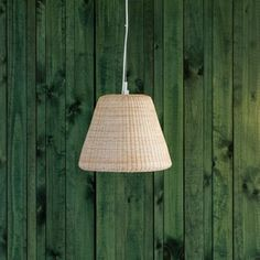made in Chile mimbre lamp