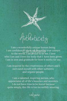 Affirmation - Authenticity