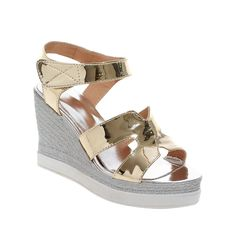 Carolbar Women's Hook-And-Loop Dress Fashion Patent Leather Platform Wedges Sandals ** Continue to the product at the image link.