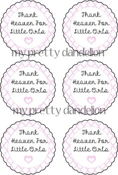 Thank Heaven For Little Girls Tag 6 by MyPrettyDandelion on Etsy, $3.00