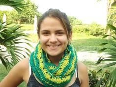Crochet Bufanda De Dos Colores Conbinacion Del Gorro - YouTube