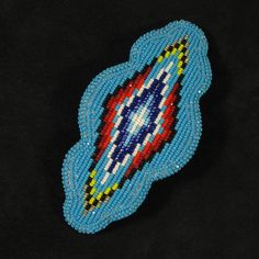 This barrette is Native American hand made