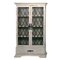 *French Country White Display Cabinet | BelleEscape.com
