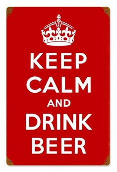 Keep Calm Drink Beer Pub Bar Vintage Metal Sign