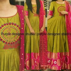 Salwar Designs, Half Saree Designs, Kurta Designs Women, Kurti Designs Party Wear, Designer Salwar Kameez, Indian Designer Outfits, Indian Outfits, Designer Dresses, Frock Design