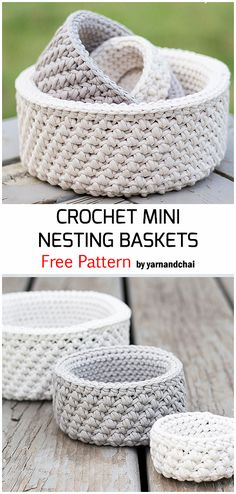 If you are looking for best and free crochet basket patterns for your home decor, here is the unique collection of 50 basket patterns available for you. Diy Crochet Basket, Crochet Bowl, Crochet Basket Pattern, Crochet Yarn, Free Crochet, Crotchet, Crochet Crafts, Crochet Projects, Yarn Crafts