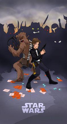 Star Wars - Han Solo cover by spewtank Star Wars Love, Star Wars Fan Art, Star Trek, Han Solo And Chewbacca, Star Wars Han Solo, Sith, Pokemon, Love Stars, Comic Art