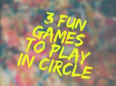 3 game to play in circle