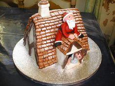'someone's waiting for santa' - Christmas cake