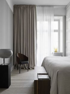 Home Decor Bedroom .Home Decor Bedroom Minimal Bedroom, Modern Bedroom, Swedish Bedroom, Bedroom Rustic, Master Bedrooms, Elegant Home Decor, Elegant Homes, Swedish Interiors, Curtains Living