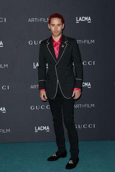 Jared Leto in Gucci - LACMA 2015 Art Film Gala #suits