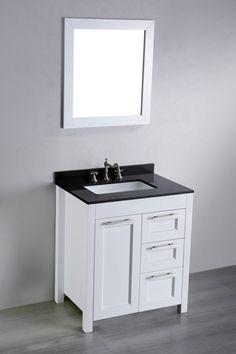 27 Inch White Bathroom Vanity