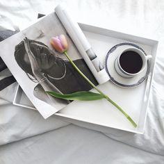 Coffee, fashion, magazines, flatlay, curvy fashion blogger for women over 35,
