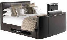 Super Kingsize New York Leather TV Bed