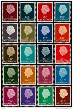 ~~~ Netherlands 1953/1967 - Definitives Juliana Hartz - NVPH 617/636 ** MNH ~~~ - Periode 1949-1980 (Juliana)