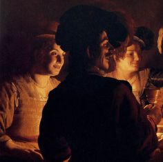Supper Party - detail 1 by Gerrit Van Honthorst, 1619 Dutch Artists, Great Artists, Dutch Golden Age, Caravaggio, Chiaroscuro, Medieval Fantasy, Ferdinand, Old Master, Rembrandt