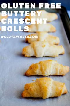 Gluten Free Crescent Rolls: Delicious, only 7 ingredients and incredibly easy to make! Gluten Free Crescent Rolls - Tender, fresh from the oven gluten free crescent rolls - a basket of these beauties will have everyone wanting seconds! Sans Lactose, Lactose Free, Gf Recipes, Dairy Free Recipes, Wheat Free Recipes, Cookie Recipes, Croissant Sans Gluten, Gluten Free Crescent Rolls, Patisserie Sans Gluten
