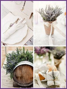 Lavender everywhere ❤️ Love the wine barrels filled with lavender especially! How great would that party smell!