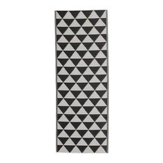 High Quality Water Resistant Flatwoven Rug, in/outdoor (Black/grey) - 75x200 cm