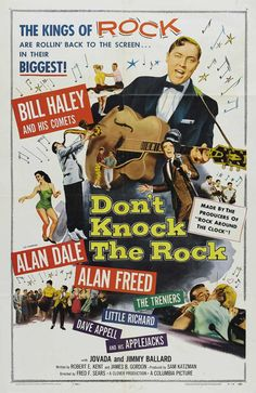 Don't Knock The Rock Poster – Rock & Roll Movie Bill Haley Alan Freed by MyGenerationShop on Etsy Rock Roll, 1950s Rock And Roll, Pop Rock, Rock N Roll Music, Rock Posters, Concert Posters, Movie Posters, Theatre Posters, Vintage Movies