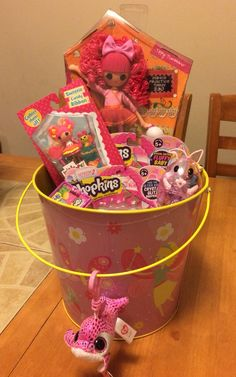 Trolls easter basket trolls easter basket filled trolls bows lalaloopsy and shopkins themed easter baskets negle Image collections