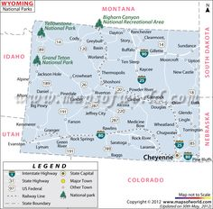 Im From The Northeast Part Of Wyoming Check It Gillette Is The - Map of wyoming cities