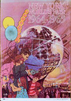 60s Vintage New York World's Fair 1964 - 1965 Poster.