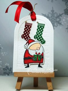 We're over halfway through our CAS Christmas Challenge . This month our talented Christine is hosting our challenge. Santa List, Christmas Challenge, Advent Calendar, Christmas Ornaments, Holiday Decor, Stamping, Tags, Advent Calenders, Christmas Jewelry