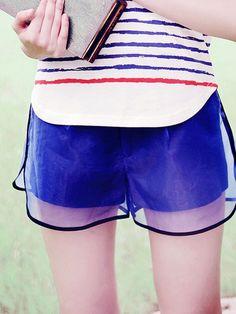 organza mirage layered shorts