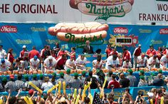 Nathan's famous hotdog eating competition. surf ave near stillwell ave (coney island)