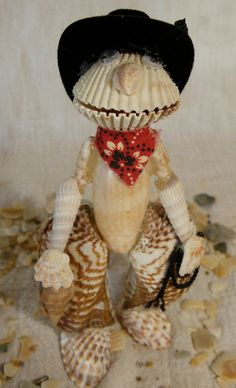 Buy Seashell Texas Cowboy by oceanblooms. Explore more products on http://oceanblooms.etsy.com