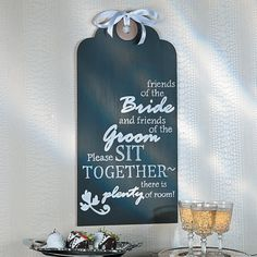 Wedding Tag Sign Idea - OrientalTrading.com